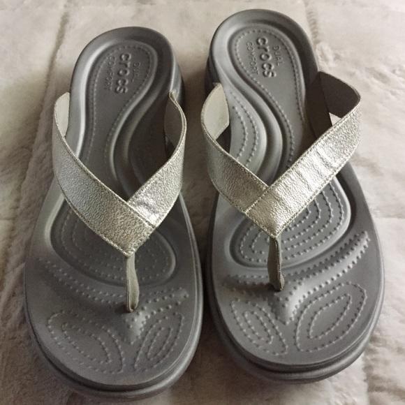 b7eaa6c9559d CROCS Shoes - Crocs Capri V Shimmer Flip Flops Sandals